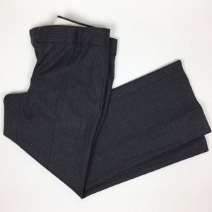 J. Crew City Fit charcoal gray pinstripe pant
